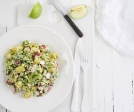 Salada de polvo com batata e maçã