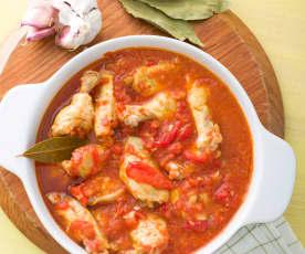 Alitas de pollo con tomate