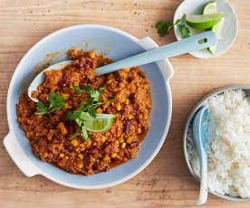 Chili sin Carne mit Kürbis