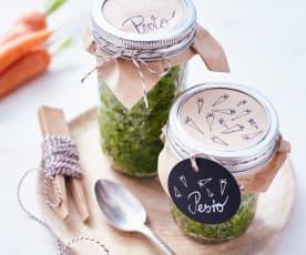 Pesto aux fanes de carotte