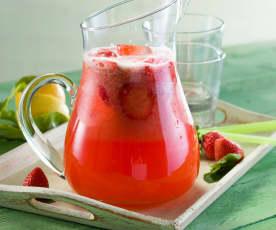 Mojito de fresas sin alcohol