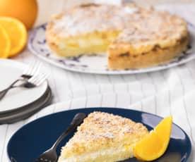 Drobenkový koláč s ricottou a pomerančovou kůrou