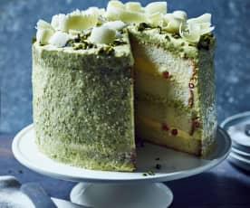 Weiße Schokoladen-Pistazien-Torte
