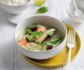 Curry verde thai vegetariano