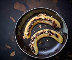 2 Plátanos con relleno de chocolate