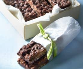 Barritas de chocolate y arroz inflado (sin gluten)