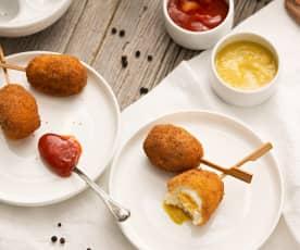 Huevos de codorniz Villaroy