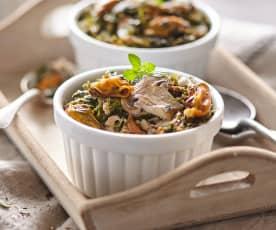 Cocotte de flan de pescado (sin lactosa)