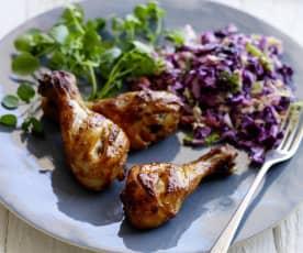 Devilled Chicken with Coleslaw