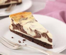 Marmorierter Brownie-Käsekuchen