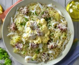 Insalata di riso con seppie e patate