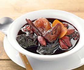Soupe de fruits secs à la cannelle