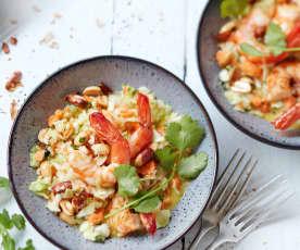 Salade thaïe aux crevettes