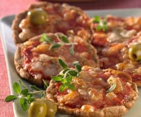 Mini-Pizzas aus Quark-Öl-Teig