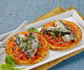 Tarte fine aux sardines