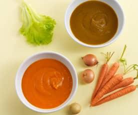 2 purés de legumes - puré base e introdução da alface