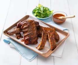 Bourbon pork ribs