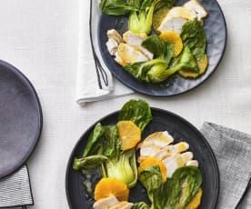 Hähnchenbrust mit Orangen-Sojasauce