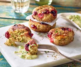 Couscous-Taler mit Cranberrys