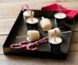 Candy cane ice creams