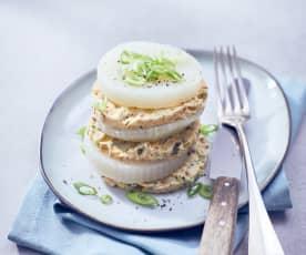 Kohlrabitaler mit pikantem Omelette