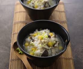雞茸玉米香菇粥