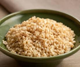 Cocción de arroz integral