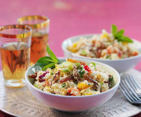 "Blumenkohl-""Couscous""-Salat"