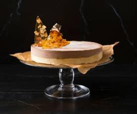 Mocha ice cream cake with Champagne snaps