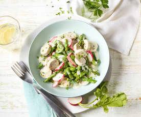 Spargel-Weißwurst-Salat