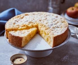 Runder Apfel-Streusel-Kuchen