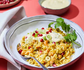 Curry-Reis mit Gewürzjoghurt