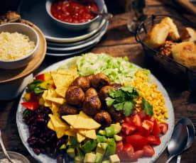Taco-Salat mit Hackbällchen