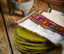 Whole Wheat and Spinach Tortillas