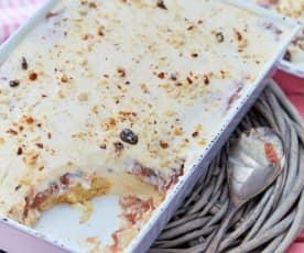 Süße Rhabarber-Lasagne