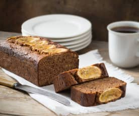 Banana, walnut and date loaf