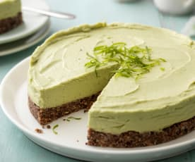 Avocado Lime Cheesecake (No Added Sugar)