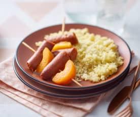 Brochettes merguez-abricot