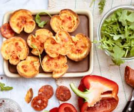 Bouchées aux chorizo et poivron