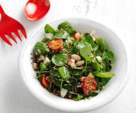 Quinoa Salad with Beans and Goat's Cheese