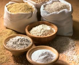 Harina de mijo, arroz y sarraceno (sin gluten)