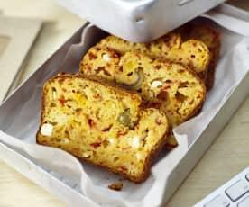 Herzhafter Paprika-Feta-Kuchen