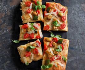 Pizza vegetariana a lunga lievitazione