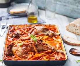 Cuisse de dinde à la tomate et aux légumes