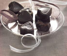 Petits chocolats à la liqueur