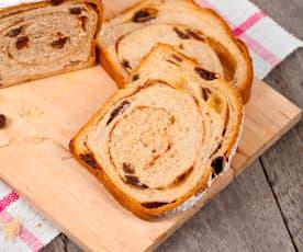Sourdough Starter Discard Cinnamon Raisin Bread