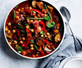 Chickpea ratatouille (gut health)