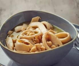 Zuppa di seppie e ceci a Cottura Lenta