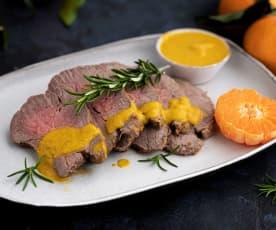Roastbeef con crema di clementine