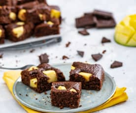 Owsiane brownie z mango